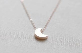 jewels necklace silver silver necklace moon tiny moon necklace tiny moon cute little girly summer winter outfits spring fall outfits love fashion hipster etsy crescent moon moon necklace