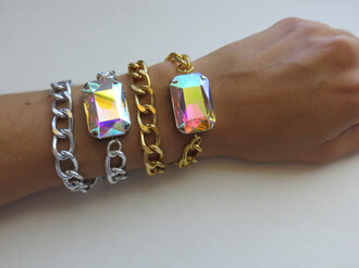 stacked jewelry jewels stacked bracelets etsy crystal bracelet trendy jewelry layering chains layering ab crystal aurora borealis