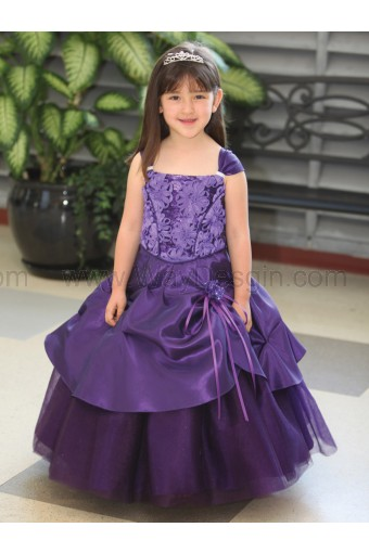 Purple Tafetta Dress Sparkly Tulle Underlay