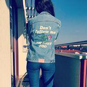 jacket,yeah bunny,rose,roses,36683,dontfollowme,denim jacket