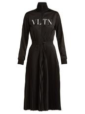 dress,midi dress,pleated,midi,black