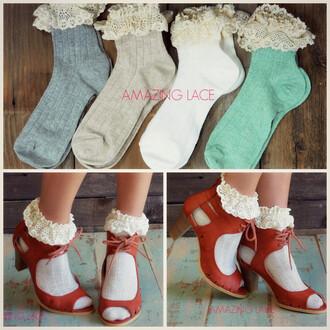socks ruffle socks lace socks frilly socks short socks fall socks dainty feminine crochet ruffle trendy amazing lace