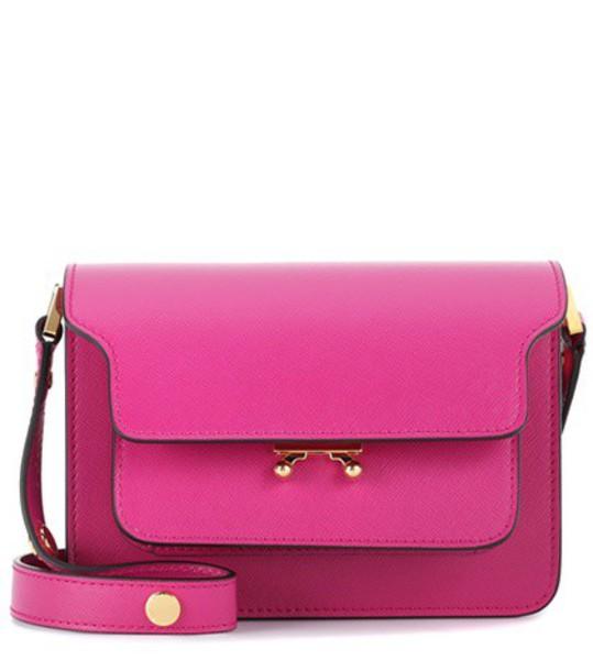 MARNI mini bag shoulder bag leather pink