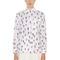 Cactus print stretch cotton poplin shirt