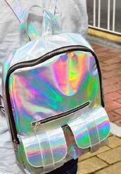 bag,hollographic,backpack,holographic bag