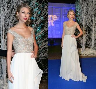 prom dress fashion classy evening dress long prom dress white dress chiffon gowns celebrity style vestidos de noiva 2014 730060