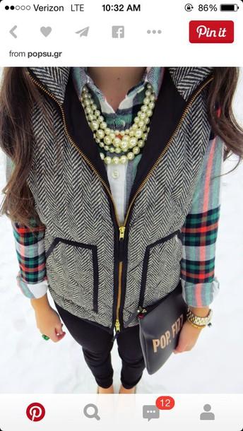 blouse plaid