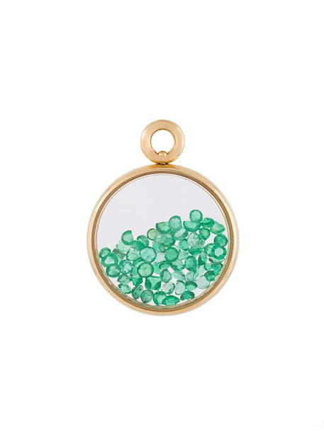women pendant gold green yellow jewels