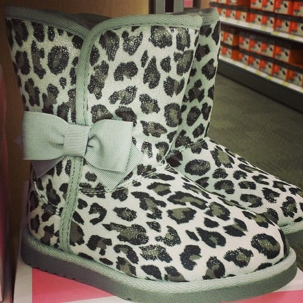 shoes sparkle leopard print boots