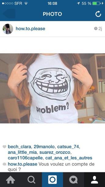 shirt tumblr grunge troll pastel problem white black troll face