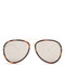 Double-rim aviator acetate sunglasses