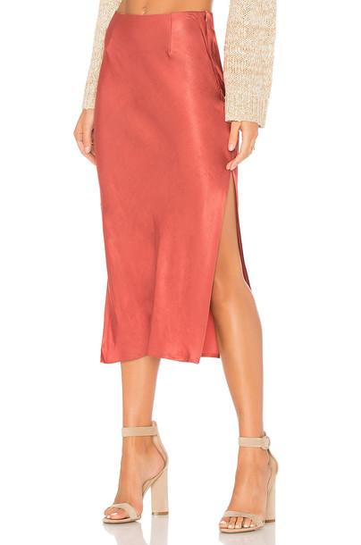 Minkpink skirt rose rust