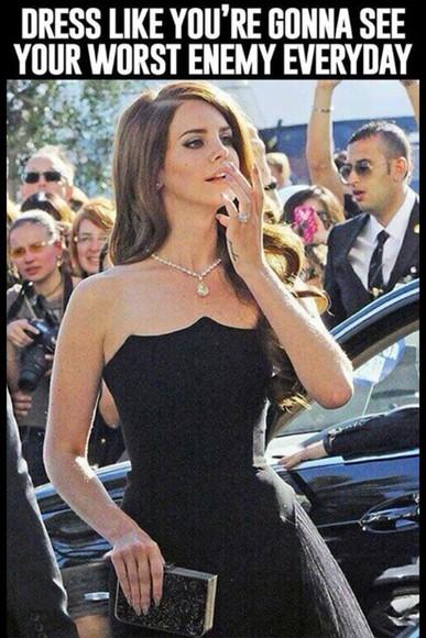 lana del rey little black dress