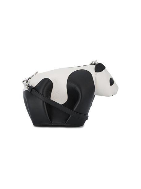 LOEWE women panda bag shoulder bag leather black