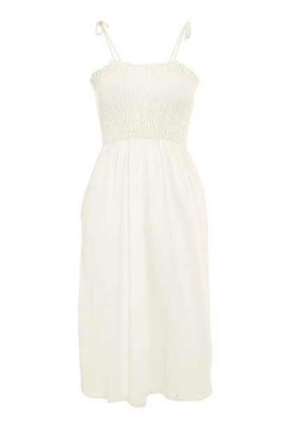 Topshop dress bardot dress cream