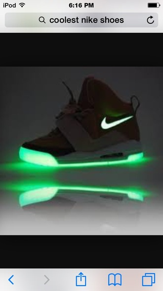 shoes nike air yeezy glow in t dark