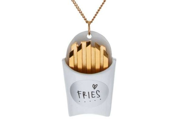 jewels gold fries necklace