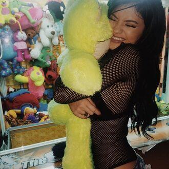 bodysuit kylie jenner stuffed animal net love