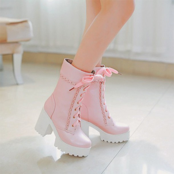 shoes cute cute high heels cute shoes lovely sweet platform shoes white shoes party shoes kawaii kawaii shoes kawaiipink kawaii grunge grunge grunge shoes pastel pastel pink pastel sneakers pastel grunge pastel shoes pastel goth boots urban pastel pink rose