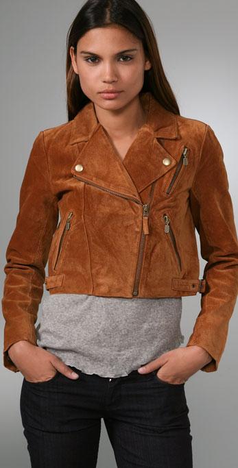 Madewell suede biker jacket