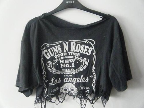 t-shirt guns and roses shirt black
