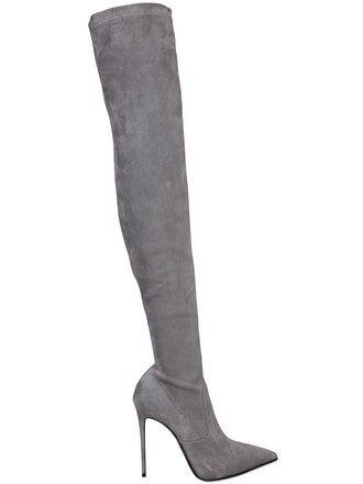 over the knee boots suede grey shoes