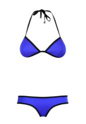 swimwear,blue bikini,triangle bikini,blue swimwear nike,blue swimwear,bleu,neon swimsuit,swimwear two piece,krystal schlegel,blogger,top,sunglasses,bag,shoes,jeans