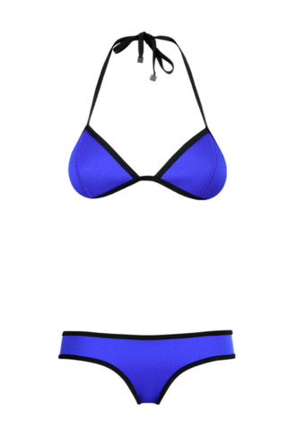 swimwear blue bikini triangle bikini blue swimwear nike blue swimwear bleu neon swimsuit swimwear two piece krystal schlegel blogger top sunglasses bag shoes jeans