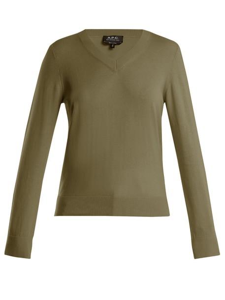 sweater cotton khaki