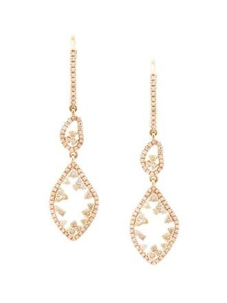 fancy women earrings purple pink jewels