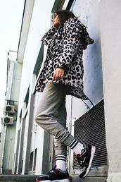 oh my blog,blogger,jacket,shirt,pants,socks,shoes,jewels,sunglasses
