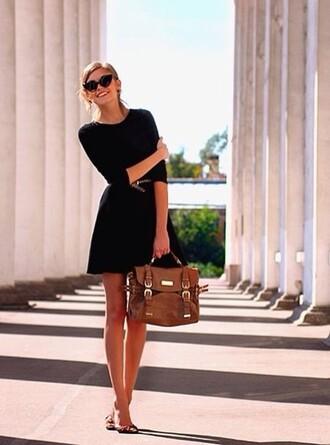 little black dress black dress classy prom dress bag formal dress satchel bag