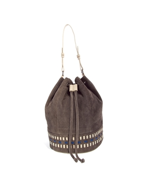 ASOS   ASOS Leather Weave Duffle Bag at ASOS