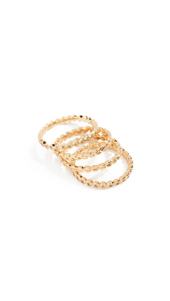 Gorjana Mini Stackable Ring Set in gold / yellow