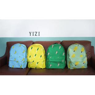 Free Shipping Creative personality OK onions banana Popsicle canvas backpack Shoulders bags Students' travel bag-inBackpacks from Luggage & Bags on Aliexpress.com