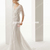 Mermaid/Trumpet V Neck Court Train Tulle Wedding Dress 2014 with Beaded Applique and Sash - Gardeniasite