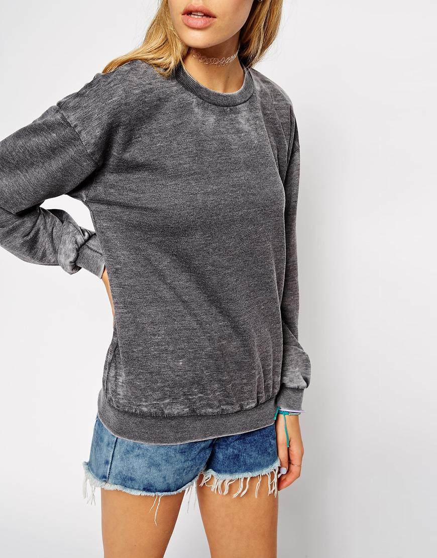 ASOS Sweatshirt in Burnout at asos.com