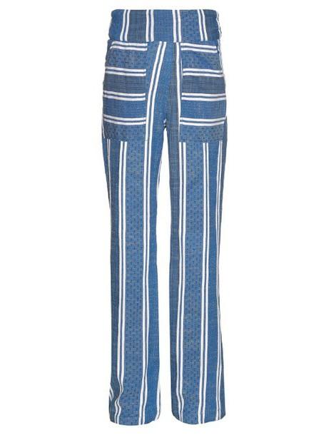 Ace & Jig white blue pants