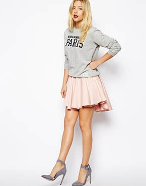 ASOS | ASOS Volume Skater Skirt with Extreme Dip Back at ASOS