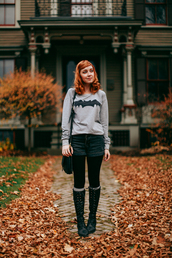 the clothes,blogger,tights,socks,bag,halloween,jumper,sweater,shorts,shoes,opaque tights