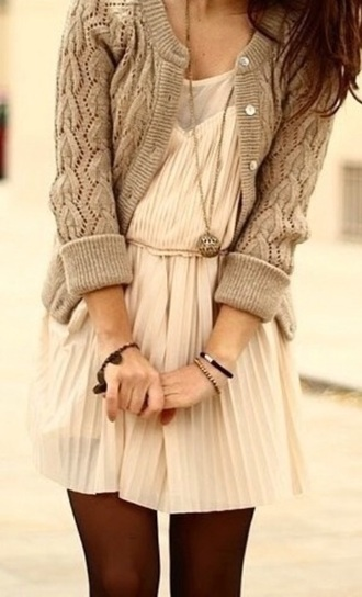 cardigan cream buttons fall sweater dress white fall dress