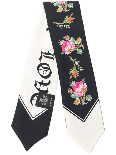gucci women scarf white silk
