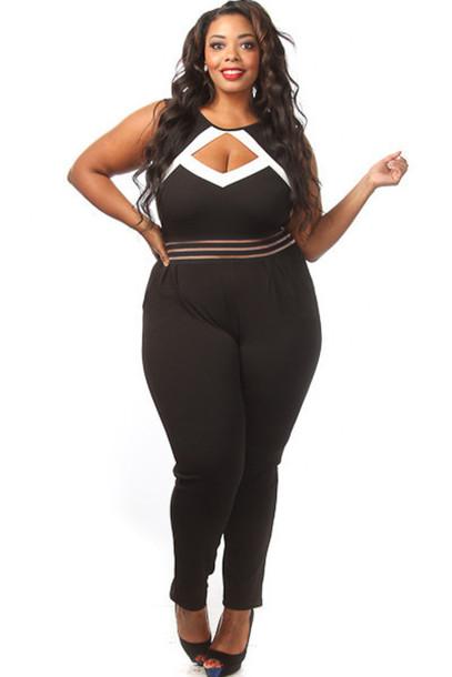 a915b71418b0e jumpsuit pinkclubwear plus size plus size jumpsuit peephole solid jumpsuit  sexy jumpsuit clubwear