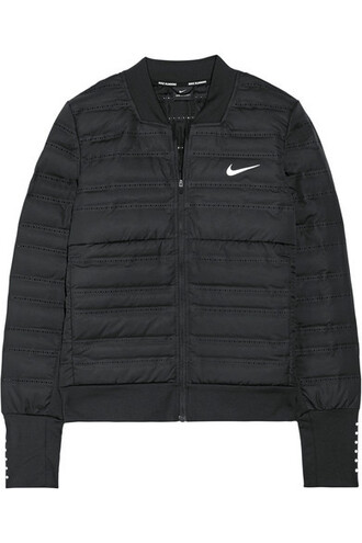 jacket down jacket shell quilted fit black