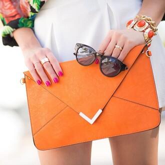 bright colorful bag orange clutch clutch clutch bag love shopping miami