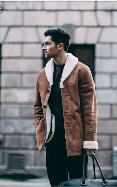 coat shearling jacket