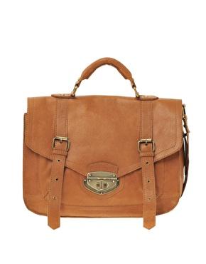 ASOS | ASOS - Cartable en cuir style vintage à fermoir pivotant chez ASOS