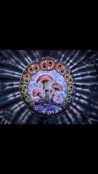 t-shirt purple mushroom t shirt shroom printed t-shirt tie dye top magic trippy