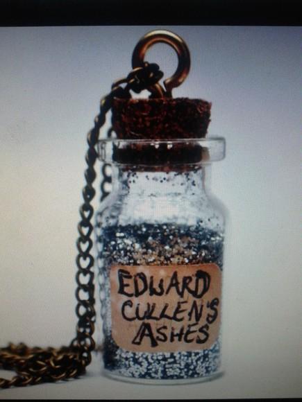 funny jewels bottle necklace necklace edward cullen twilight glitter