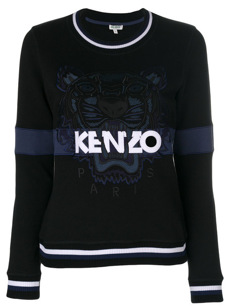 Kenzo - Tiger sweatshirt - women - Cotton/Polyester - XS, Black, Cotton/Polyester